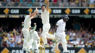 England are facing an uphill struggle to save the first Ashes Test.