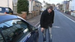 Nick McKee from Newmarket received three flat tyres after driving on Luton's busway.
