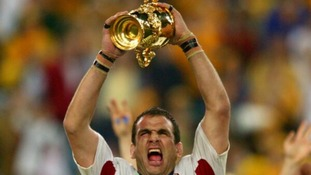 England captain lifts the Webb Ellis trophy in 2003