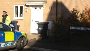 Scenes-of-crimes officers are currently at a house in Yaxley.