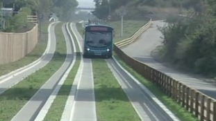 The busway opened in September and cost £91 million.