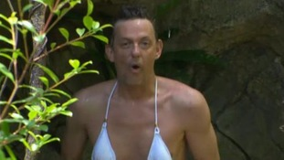 Move over Myleene - Matthew Wright has provided this year's white bikini moment in I'm A Celebrity...Get Me Out Of Here!