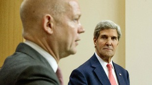 Foreign Secretary William Hague and US Secretary of State John Kerry pictured in London in September.