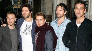 Gary Barlow, Howard Donald, Mark Owen, Jason Orange and Robbie Williams make up the original  Take That line up.