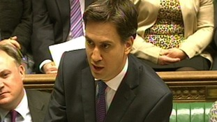 Labour leader Ed Miliband pictured during Prime Minister's Questions.