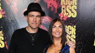 Vinnie Jones and wife Tanya Jones at a movie premiere in 2010