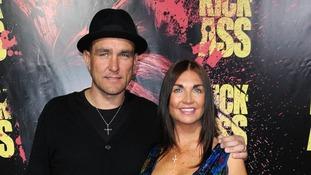 Vinnie Jones and wife Tanya Jones at a movie premiere in 2010
