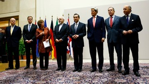 The foreign minister of the UK, Germany, EU, Iran, China, US, Russia and France after signing the deal