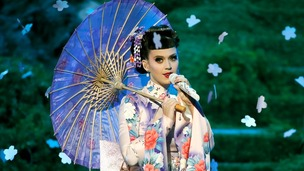 Katy Perry performs Unconditionally at the 41st American Music Awards in Los Angele