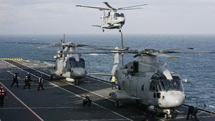 HMS Illustrious has seven helicopters and almost 1,000 personnel on board