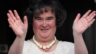 Singer Susan Boyle at her home in Blackburn, West Lothian