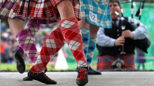 Highland dancers at the Braemar Gathering