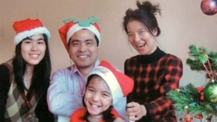 The Ding family were stabbed to death