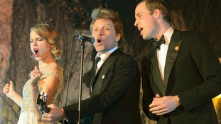 Prince William duets with Taylor Swift and Bon Jovi