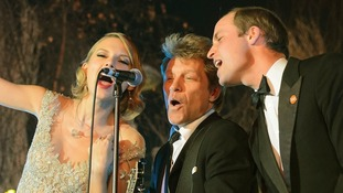 Pictures and video: Prince William sings with Taylor Swift and Bon Jovi