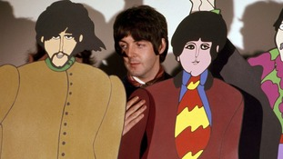 Paul McCartney with his animated self.