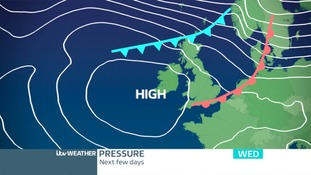 PRESSURE CHART: High Pressure allowing fronts to move SW