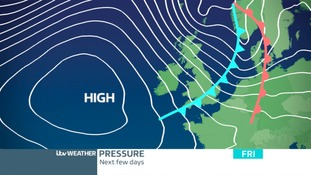 PRESSURE CHART FRIDAY: A Cold Front will spread south-east