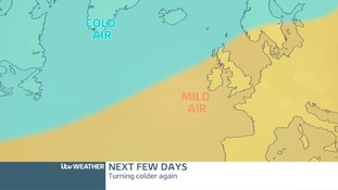 TTEMPERATURE CHART: Cold air sinking south on Friday