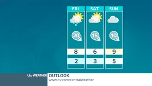 MIDLANDS OUTLOOK: Cooler but brighter by Friday and Saturday