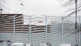 It is the second rooftop protest at the prison in a matter of weeks