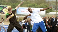 Prince Harry and Usain Bolt