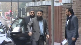 Tayyab Subhani and Mohammed Safdar arrive at Chelmsford Crown Court this morning.