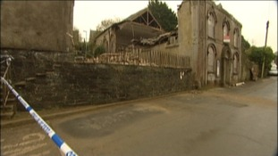 Lucky escape as church building collapses