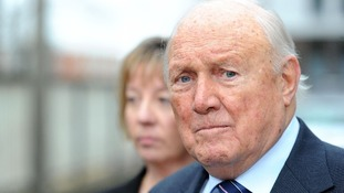 Veteran broadcaster Stuart Hall will appear in court today accused of 15 counts of rape on two young girls.
