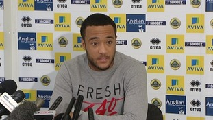 Nathan Redmond talks to the media at this week's press conference.