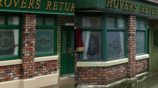 Spot the difference: The new Coronation Street set, right, and the original