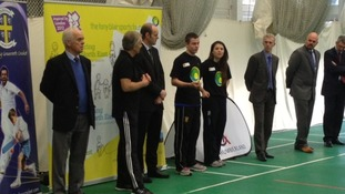 Tony Blair at Newcastle Cricket Centre