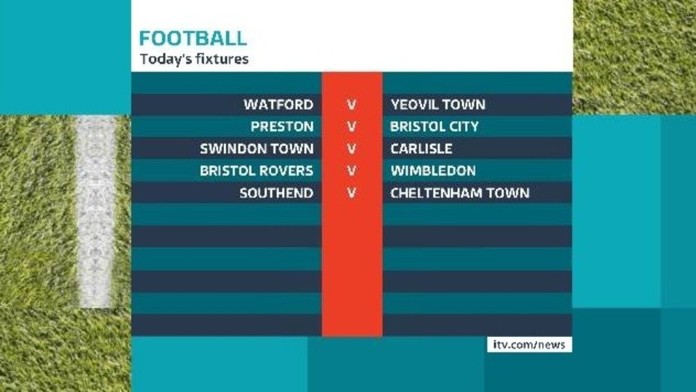 football fixtures today
