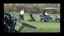 Robert Cave playing golf