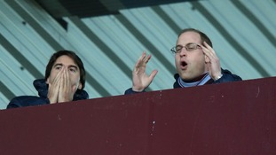 Prince William reacts to the action on-pitch
