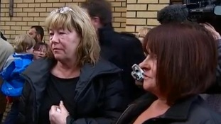 Sisters Nancy Primrose (L) and Ann Faulds were in the Clutha when the helicopter came down