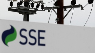 SSE sign next to pylon.