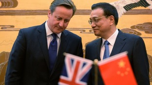 Prime Minister David Cameron with China's Premier Li Keqiang.