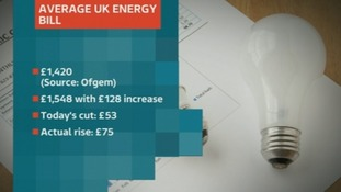 Graphic showing details of the average British Gas energy bill.