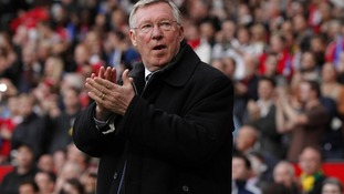 Alex Ferguson, who the banner was aimed at