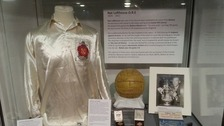 A collection of sporting memorabilia