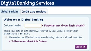 Online banking on the RBS website