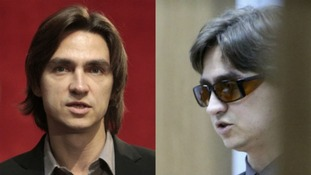 Sergei Filin, artistic director of the Bolshoi Ballet, before the acid attack, left, and in court last month.