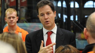 Nick Clegg is visiting the scene of the helicopter crash.