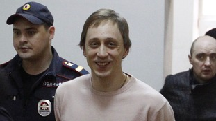 Bolshoi Theatre dancer Pavel Dmitrichenko pictured in court in October.