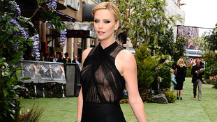 Charlize Theron arriving for the UK premiere of Snow White And The Huntsman