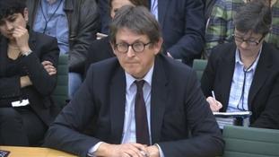 Guardian Editor Alan Rusbridger speaking to MPs.