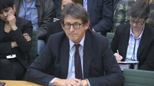 Guardian Editor Alan Rusbridger speaking to MPs.