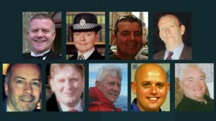 The nine people killed when the helicopter crashed in the Clutha pub in Glasgow.