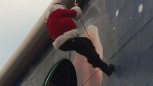 Father Christmas stuck